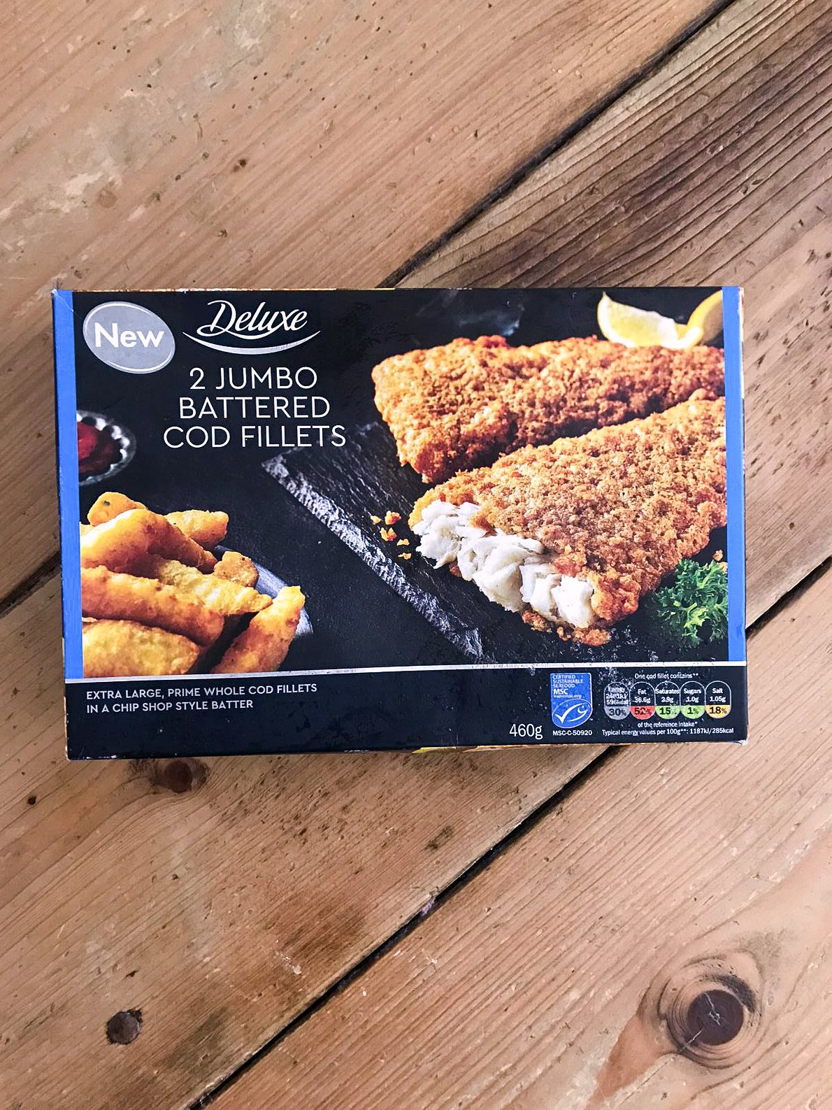 Deluxe 2 Jumbo Battered Cod Fillets